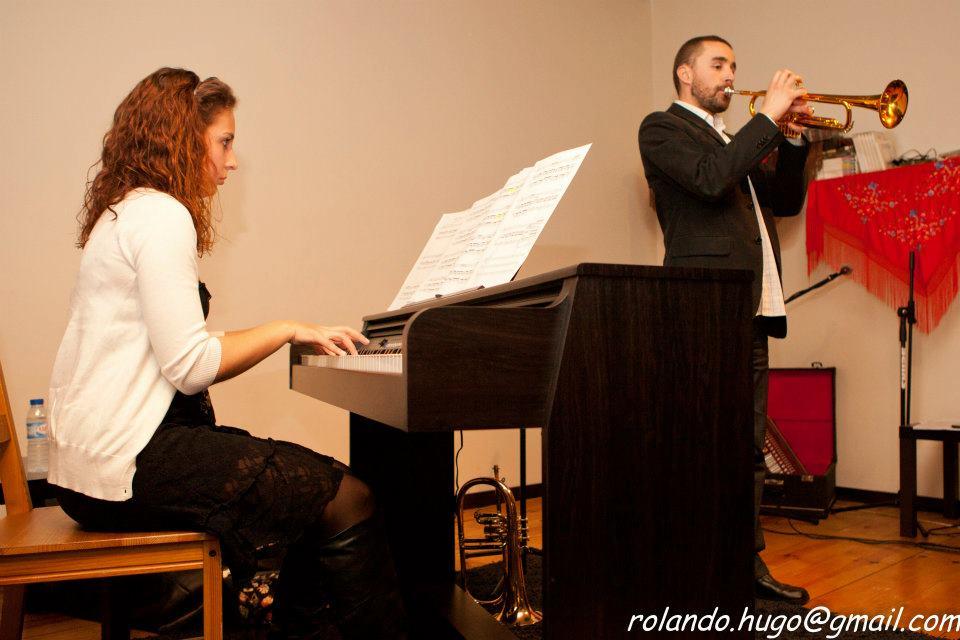 Duo de trompete e piano - NuDia