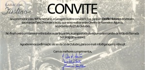 Convite Desfile Histórico