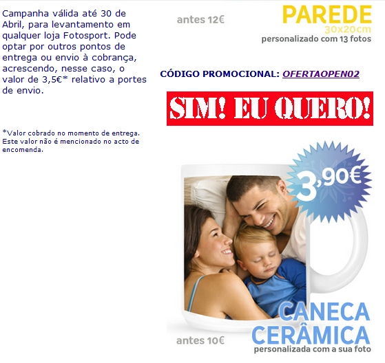 Campanha de email marketing para a Fotosport