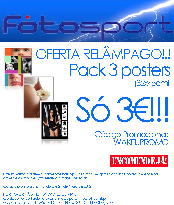 Campanha de e-mail marketing para a Fotosport