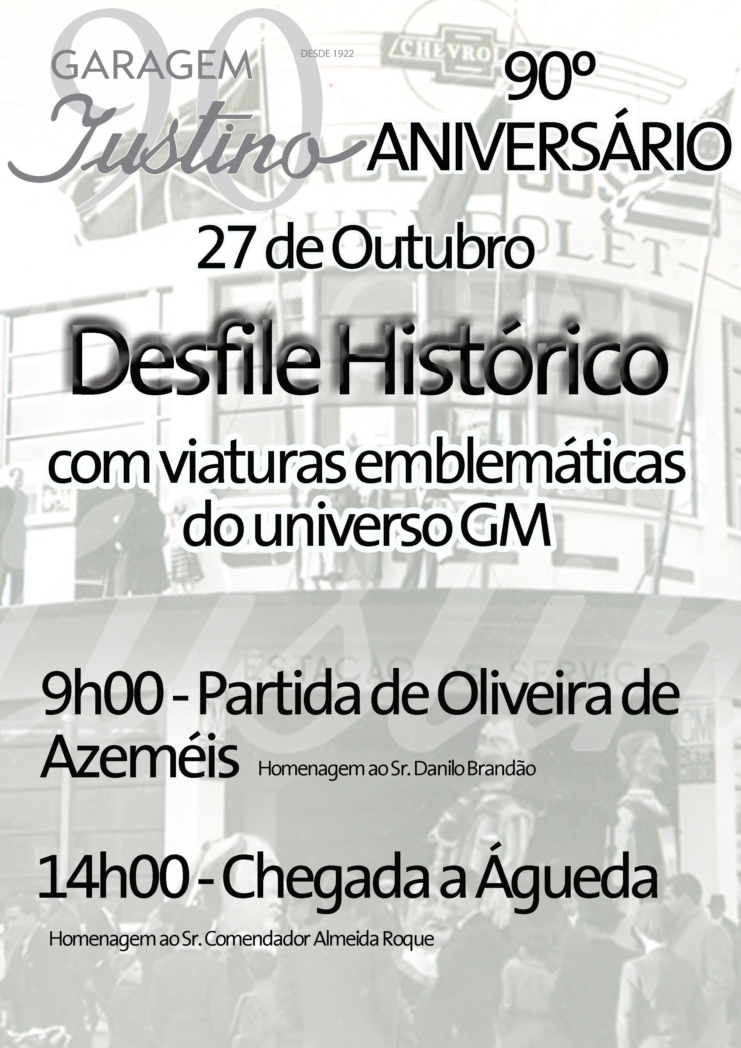 Cartaz Desfile Histórico Garagem Justino